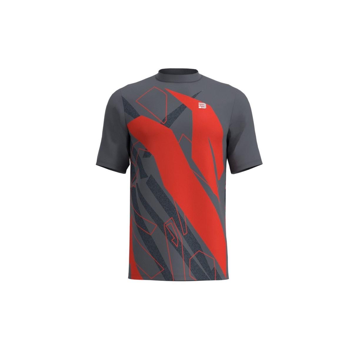 Maglietta Running Spam - GRIS ROJO
