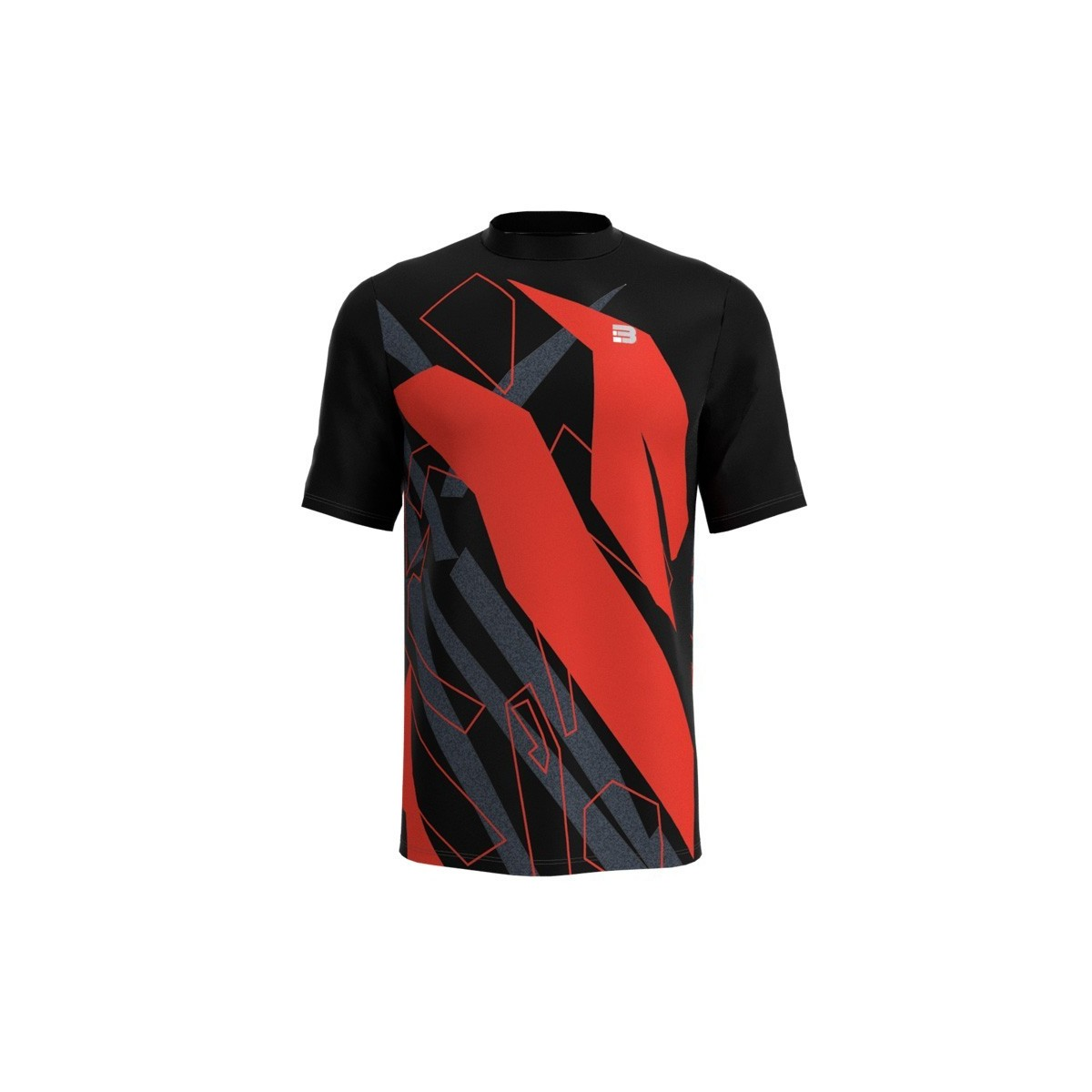Camiseta Running Spam - NEGRO ROJO