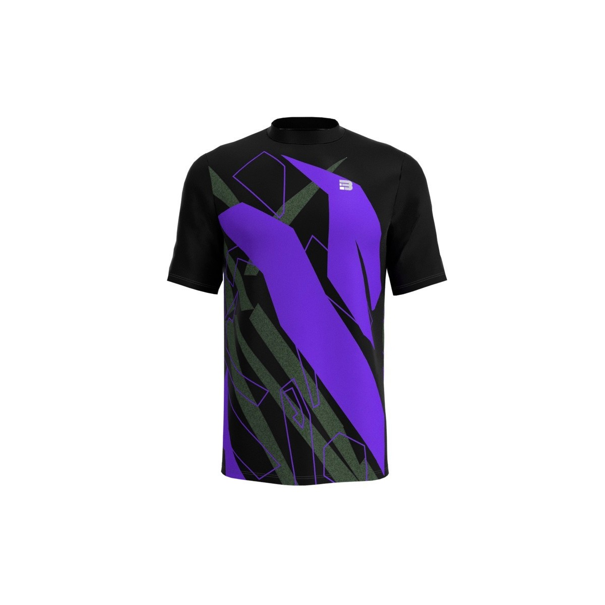 Camiseta Running Spam - NEGRO MORADO