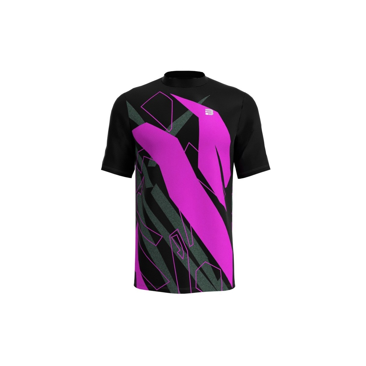Camiseta Running Spam - NEGRO FUCSIA
