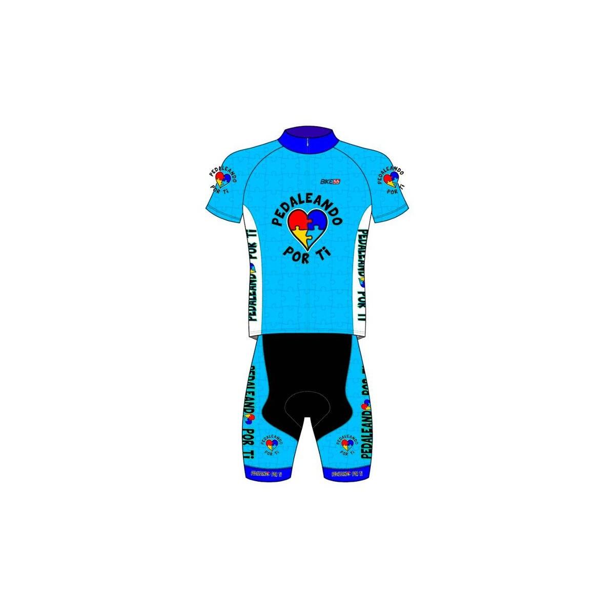 Conjunto Maglia + Pantalone corto pedaleando por ti