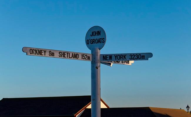 Ruta Gran Bretaña Jhon O'Groats
