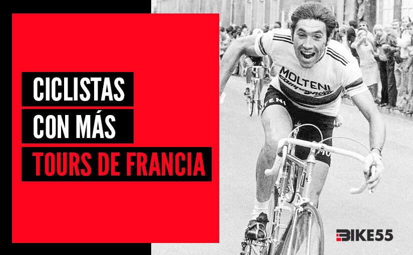 Los 5 ciclistas conmásTours de Francia