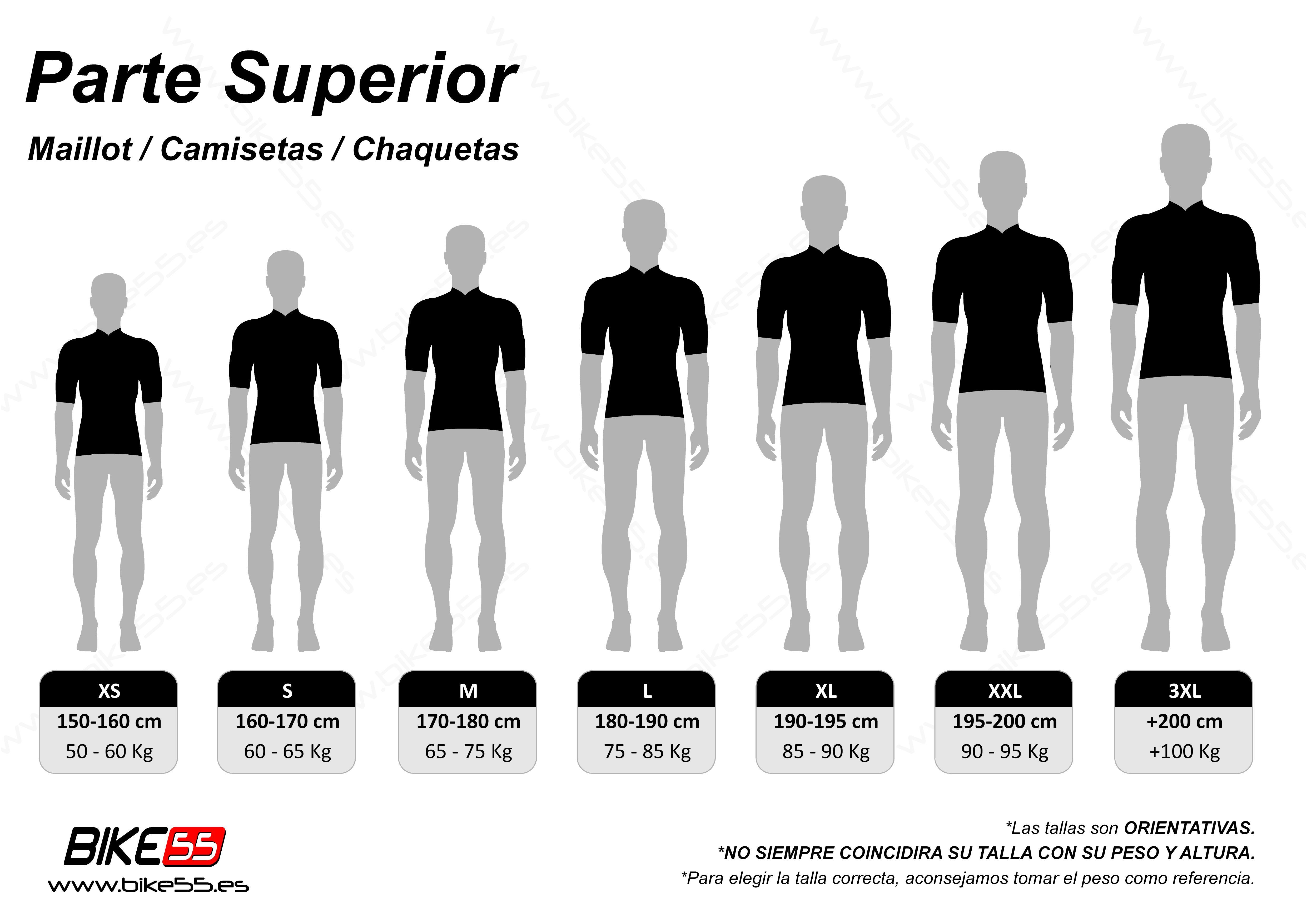 Guía de tallas de maillots hombre